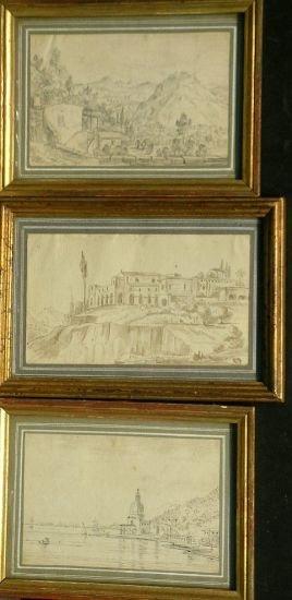 1021: Italian School 18th/19th Century LANDSCAPES: THRE