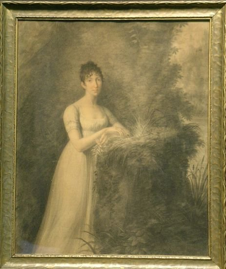 1022: Italian School 19th Century PORTRAIT OF ANGELINE