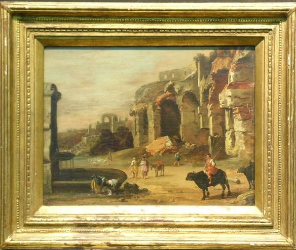 1049: Attributed to Cornelis van Poelenburgh FIGURES AM