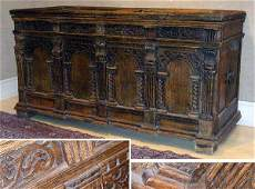 1309 Continental Baroque Oak Chest