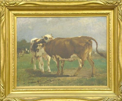 2009: Attributed to William Henry Howe COWS IN A FIELD
