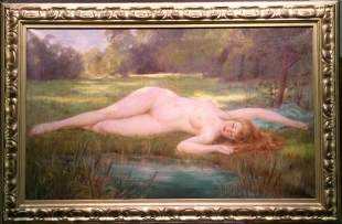 Gordon Coutts American, 1868-1937 NUDE BY A POND