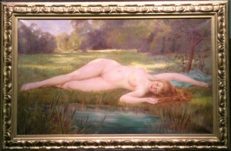 2019: Gordon Coutts American, 1868-1937 NUDE BY A POND