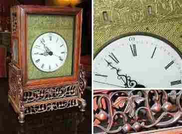 2202: Chinese Rosewood Mantel Clock