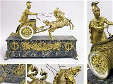 2294 Neoclassical Style GiltBronze and Green Marble F