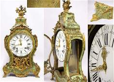 2459 Louis XV Style GiltBronze and Green Stained Horn