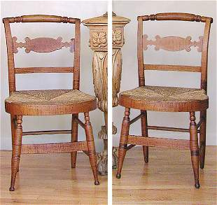 Set of Four Federal Maple Side Chairs