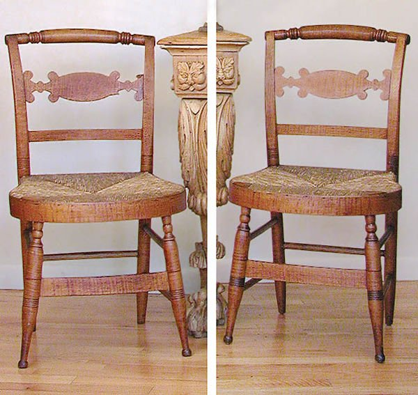 3004: Set of Four Federal Maple Side Chairs
