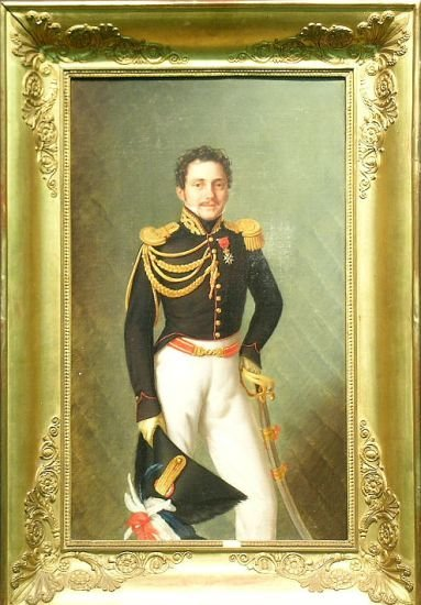 3012: French School 19th Century PORTRAIT OF AN OFFICER