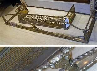 Two Georgian Style Brass Fire Fenders