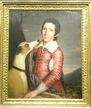 British School 18th Century BOY IN VAN DYKE COSTU