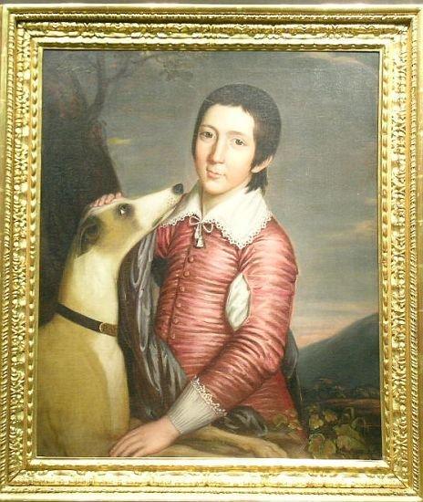 3024: British School 18th Century BOY IN VAN DYKE COSTU