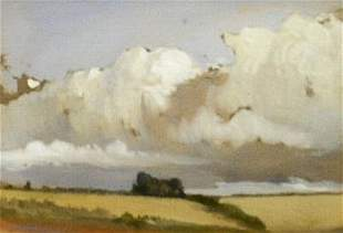 Manner of John Constable STUDY: CLOUDS OVER VALLEY