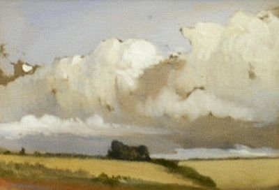 15: Manner of John Constable STUDY: CLOUDS OVER VALLEY: