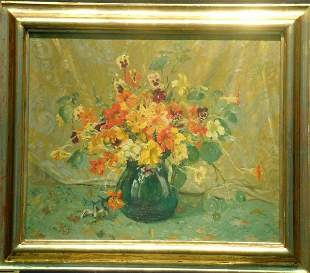 20th Century School SPRING BOUQUET WITH PANSIES