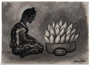 Diego Rivera Mexican, 1886-1957 Fruit Vendor
