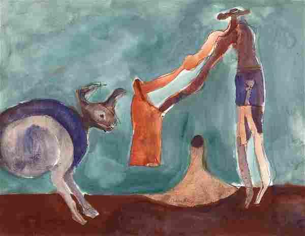 Francisco Toledo Mexican, 1940-2019 Bull and Matador