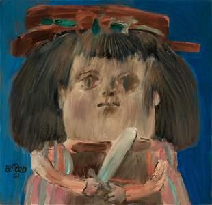 Fernando Botero Colombian, b. 1932 Niña, 1961