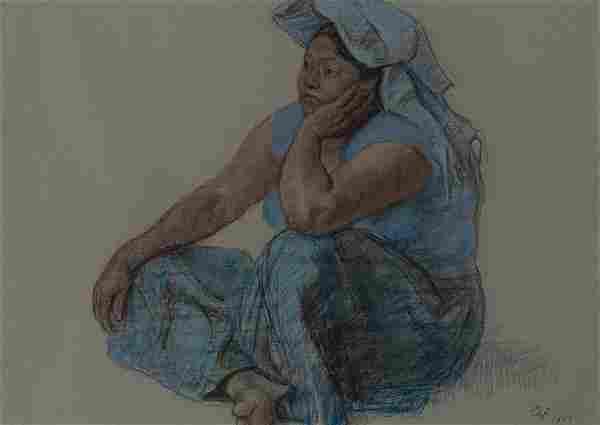Francisco Zuniga Mexican, 1912-1998 Bajo el Sol (Under