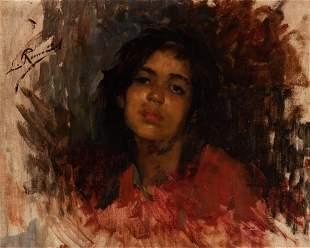 Leopoldo Romanach Cuban, 1862-1951 Portrait of a Woman