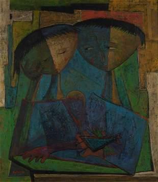 Angel Botello Puerto Rican, 1913-1986 Ninos con