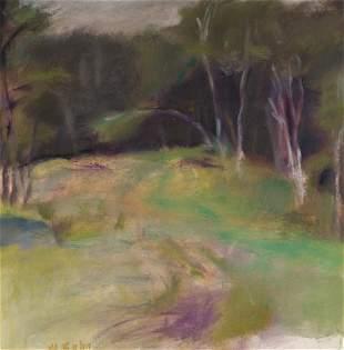 Wolf Kahn German/American, 1927-2020 Birches, circa