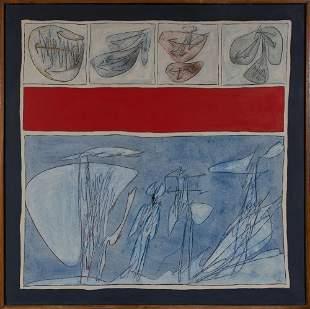 Achille Perilli Italian, b. 1927 L'Europa Cariata, 1963
