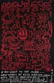 Keith Haring (1958-1990) TONY SHAFRAZI GALLERY POSTER