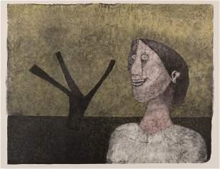 Rufino Tamayo (1899-1991) MUJER SONRIENTE (PEREDA 339)