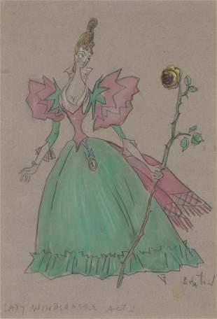 Cecil Beaton British, 1904-1980 Costume Design for Lady