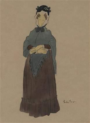 Cecil Beaton British, 1904-1980 Costume Design for Mrs.