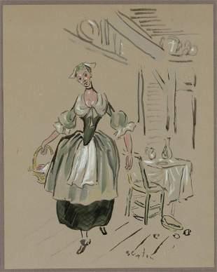 Cecil Beaton British, 1904-1980 Costume Design for