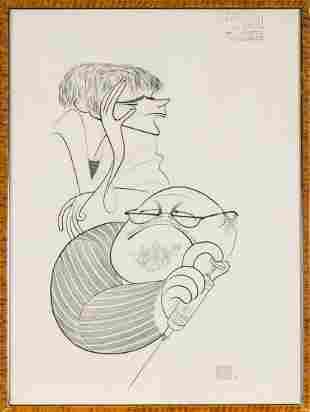 Al Hirschfeld American, 1903-2003 Burl Ives and Keir