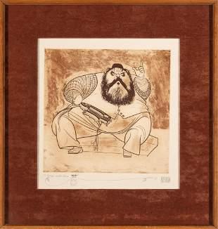 Al Hirschfeld (1903-2003) ZERO MOSTEL AS TEVYA IN