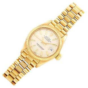 Rolex Gold 'Oyster Perpetual Datejust' Wristwatch, Ref.