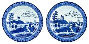 A Rare Pair of Chinese Blue and White Porcelain