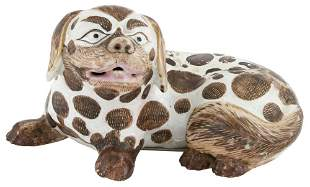 A Chinese Export Porcelain Model of a Pekingese 18th