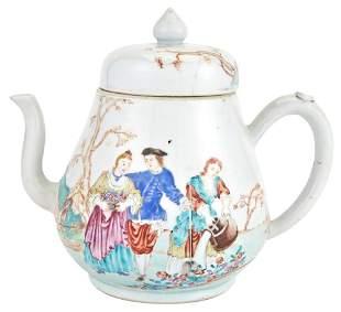A Rare Chinese Enameled European-Subject Porcelain