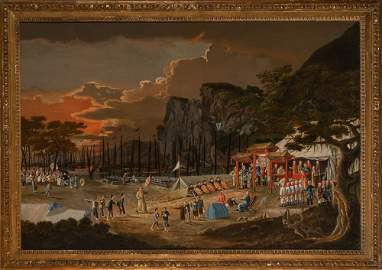 An Exceptionally Rare and Large China Trade Painting