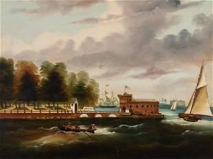 Thomas Chambers English/American, 1808-1866/69 Castle