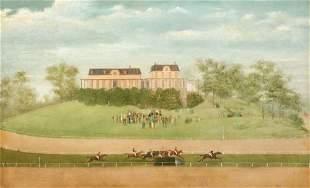 American School 19th Century Steeplechase, Jerome Park,