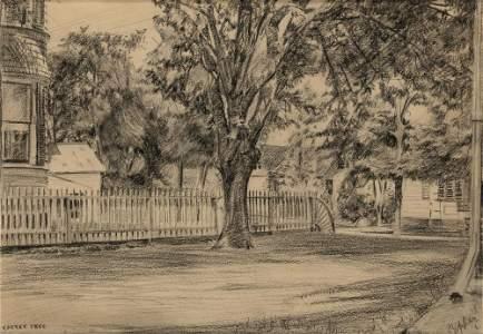 Edward Hopper American, 1882-1967 Cherry Tree Signed E
