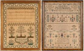 English Needlework Sampler Worked by Mary Ann Cooper,
