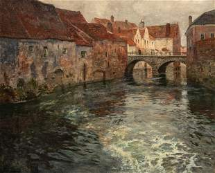Frits Thaulow Norwegian, 1847-1906 On the Canal from