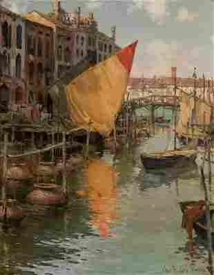 Charles Reiffel American, 1862-1942 Venice Signed Chas
