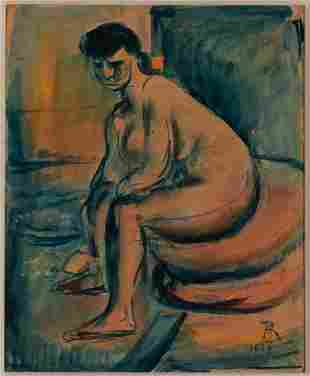 Georges Rouault French, 1871-1958 Nu Assis, 1906 Signed