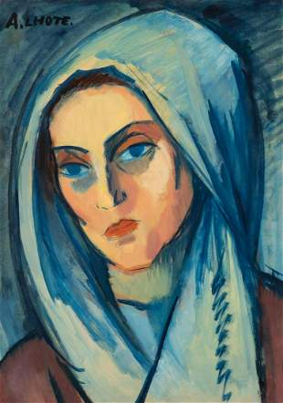 Andre Lhote French, 1885-1962 Portrait de Jeanne, 1908