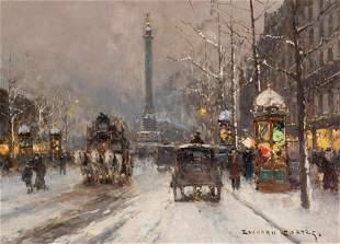 Edouard Leon Cortes French, 1882-1969 Place de la