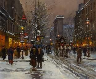 Edouard Leon Cortes French, 1882-1969 Porte