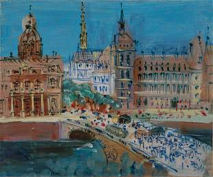 Jean Dufy French, 1888-1964 Pont Neuf with the